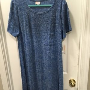 Lularoe Carly 2XL Blue/white flecks